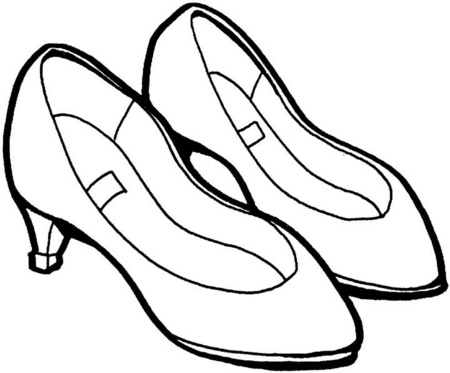 Dibujos de zapatos para colorear – WIKIPEKES